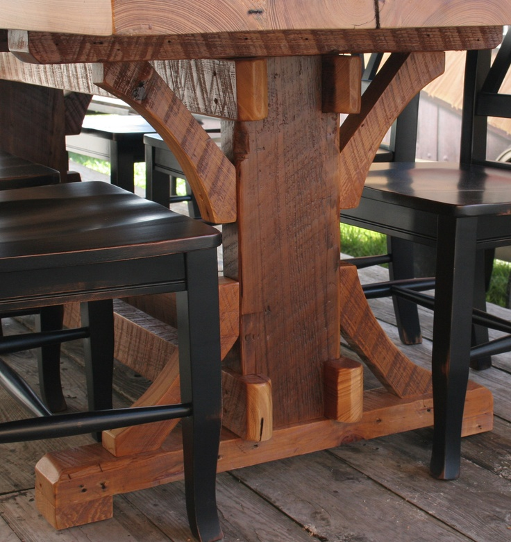 Timber Frame Barn Wood Dining Table Logfurnitureplace: 17 Best Images About Timber Furniture On Pinterest