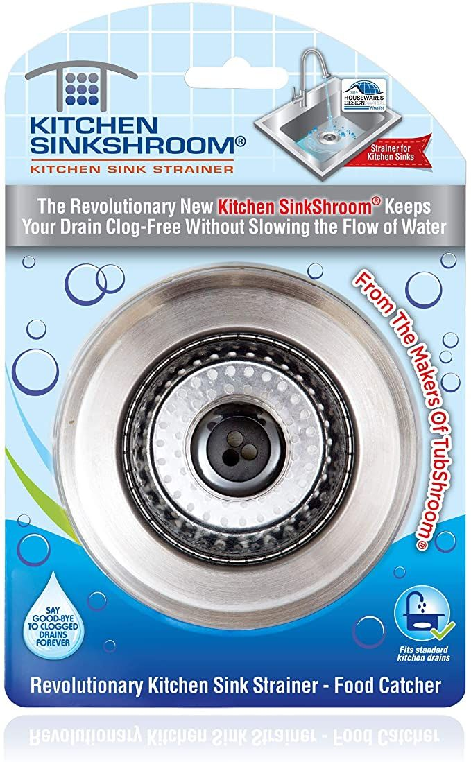 Kitchen Sinkshroom Revolutionary Clog Free Stainless Steel Sink Strainer Black Amazon Com In 2020 Kitchen Sink Strainer Sink Strainer Kitchen Sink