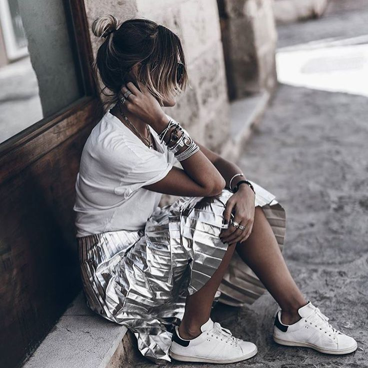 Outfit - Metallic Skirt