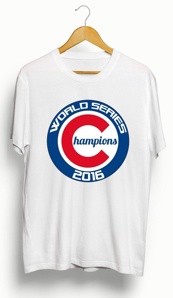 This is a brand new, 100% cotton custom Chicago Cubs 2016 World Series Champions T-Shirt. Graphic made of high quality vinyl for longevity. You will not find this shirt anywhere else. True to size. Av