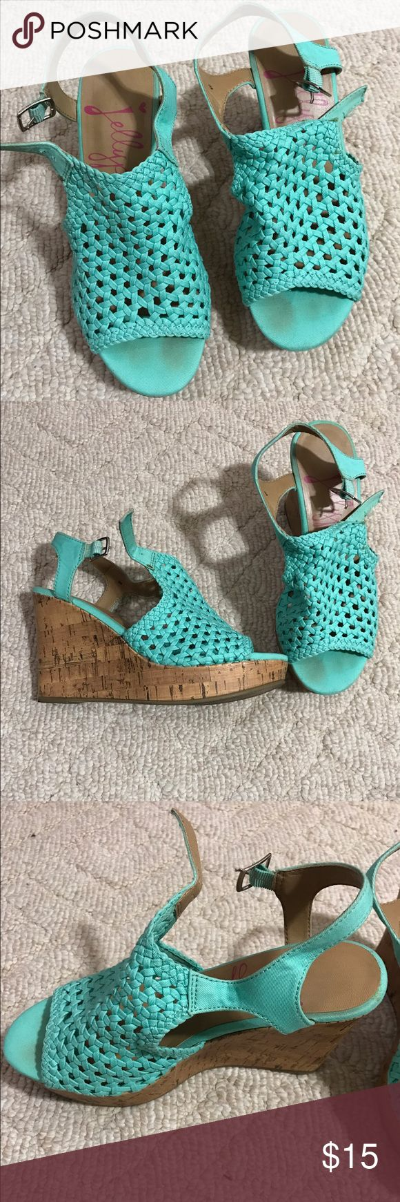 """Jellypop wedges, size 8, color is called """"Rita"""" Jellypop wedges Jellypop Shoes Wedges"""