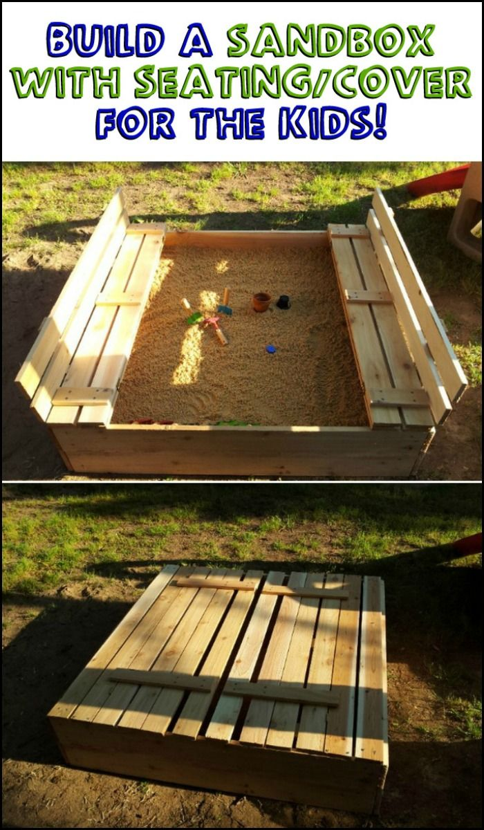 Build a sandbox that keeps the sand in and the cats out!