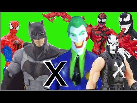 Batman Homem Aranha X Coringa Ossos Cruzados Abominável Carnificina Veno...
