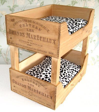 25 best ideas about homemade cat beds on pinterest for Diy wine crates