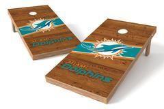 Miami Dolphins Single Cornhole Board - Logo