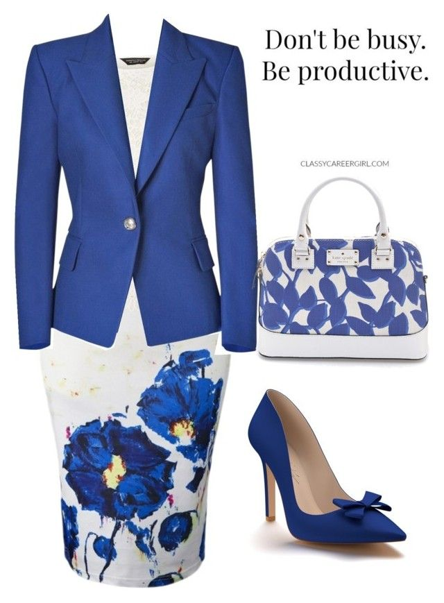 """""""Blue"""" by hisprincess2017 on Polyvore featuring WithChic, Dorothy Perkins, Balmain, Shoes of Prey and Kate Spade"""
