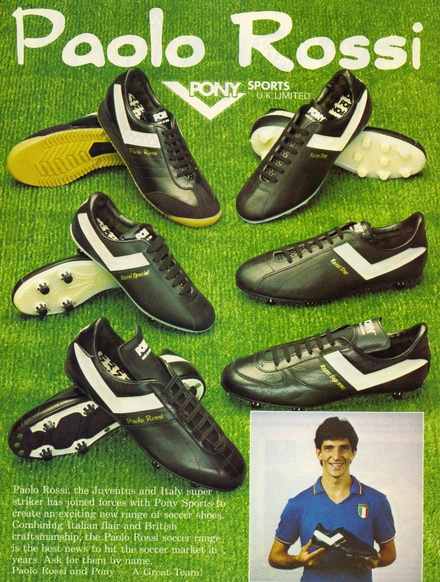 Pony Sports Paolo Rossi Football Boot Ad - 1983