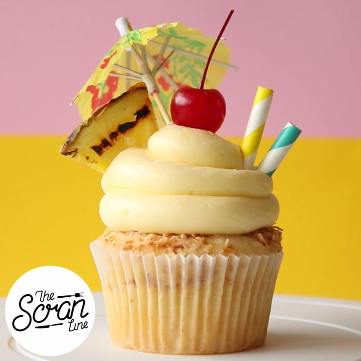 Your favorite tropical frozen drink just became the most adorable cupcake. Pineapple, toasted coconut, and rum buttercream, don't forget the cherry on top.