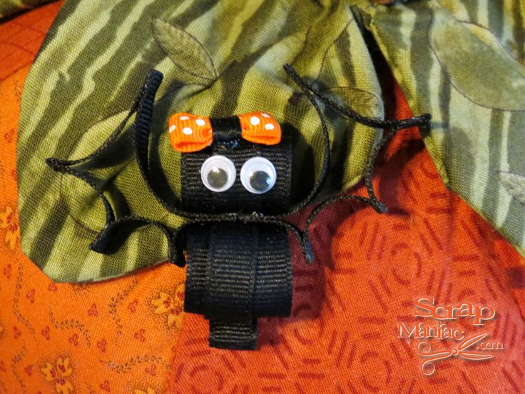 Cute Bat Halloween Ribbon Sculpture Hair Clip Bow with Googly Eyes and Grosgrain Ribbon on Partially Lined Alligator Clip for Baby, Girls by ScrapManiacShop on Etsy https://www.etsy.com/listing/201932816/cute-bat-halloween-ribbon-sculpture-hair