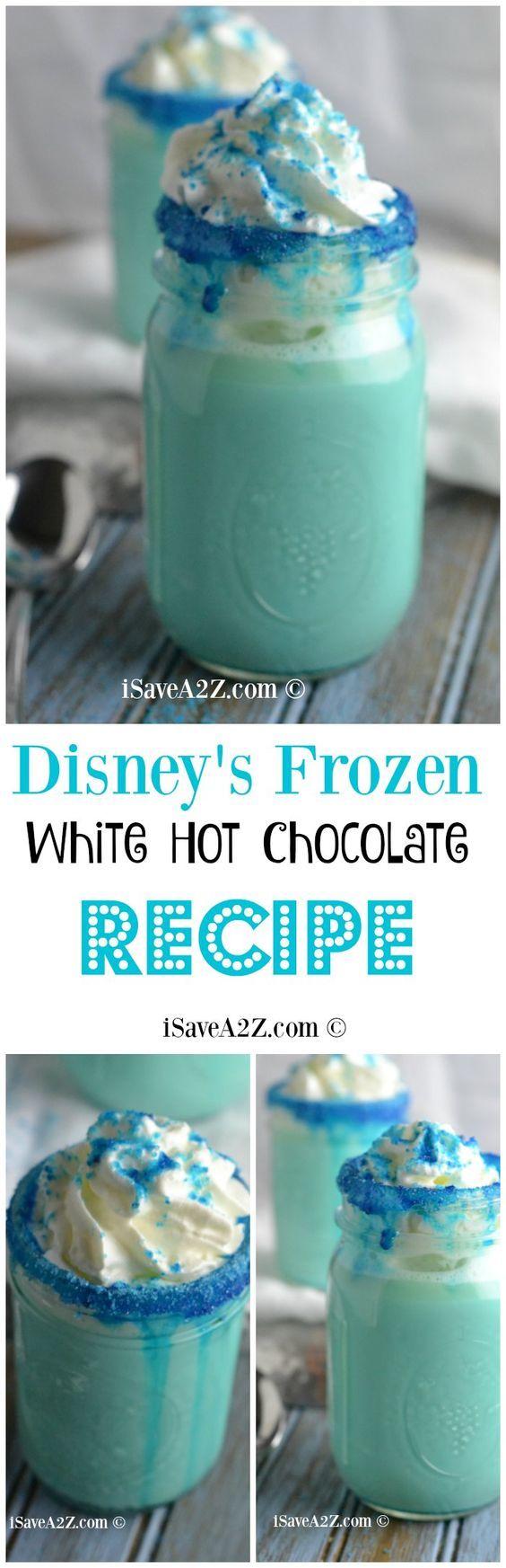 Disney's Frozen Movie Inspired Recipe: Best White Hot Chocolate Recipe