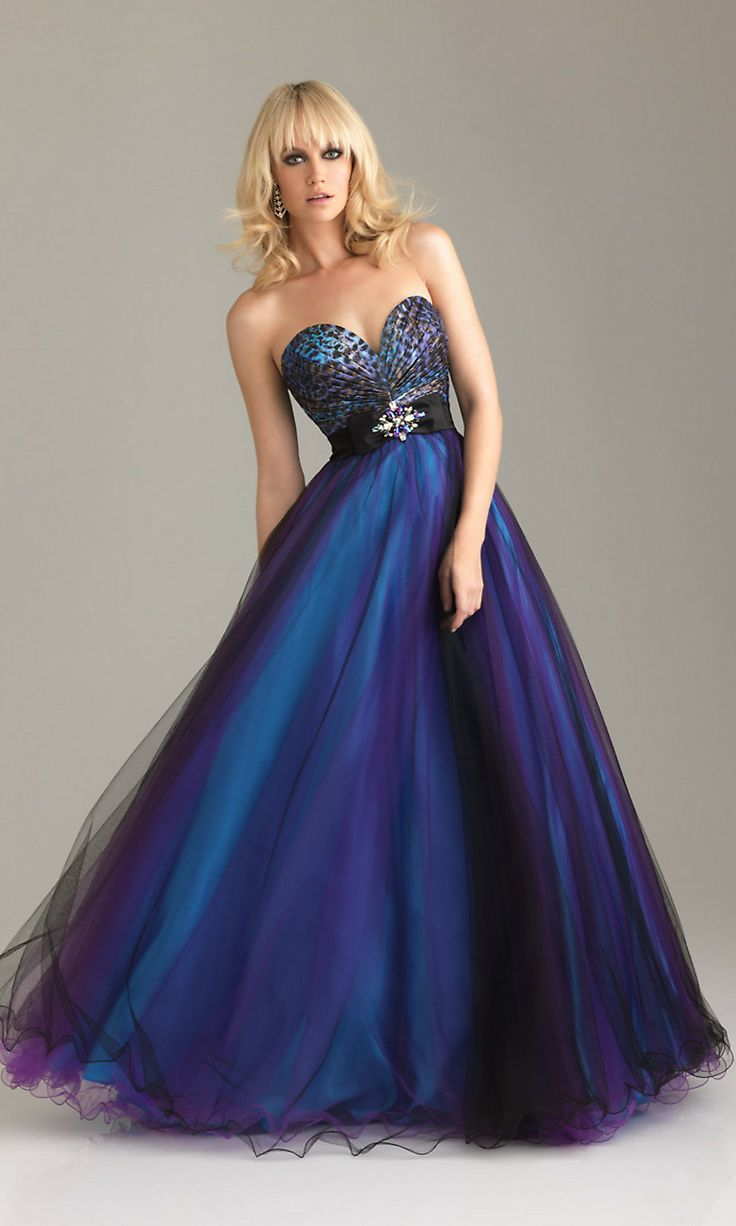 Purple Animal Print Ball Gowns by Night Moves 6462