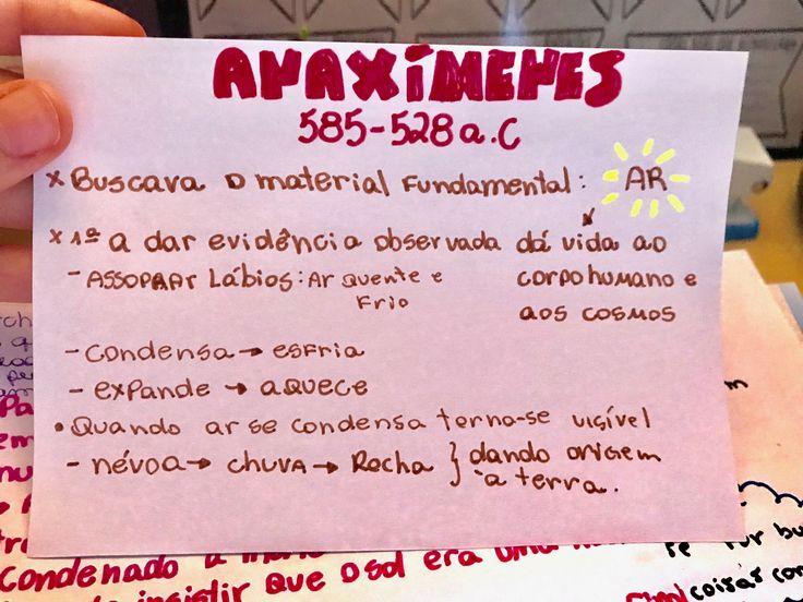 Pré-Socráticos resumo Anaximenes