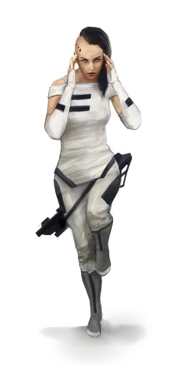 Mensajera urbana. Otro aspecto de la Thunder Guard interesante sería que sus unidades versátiles y de infiltración llevaran equipo muy ligero, como civiles vestidos de última moda.