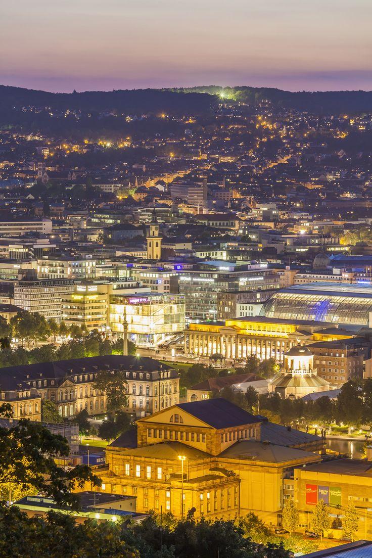 Stuttgart at night. We like! :D
