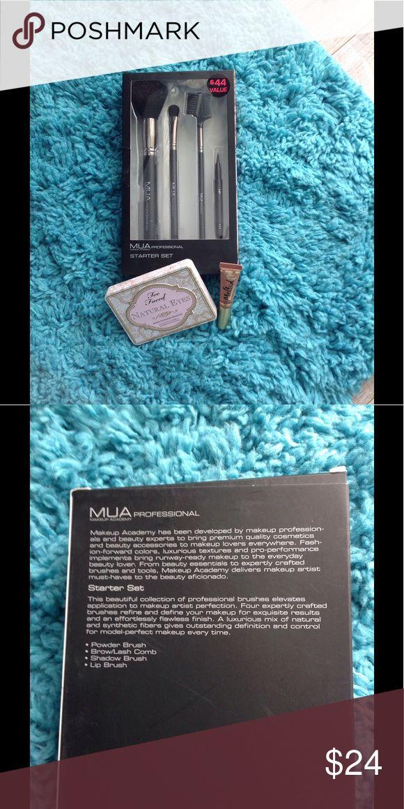 MUA Professional makeup brush set Brand new in box brush set. Retail value of $44. MUA Makeup Brushes & Tools