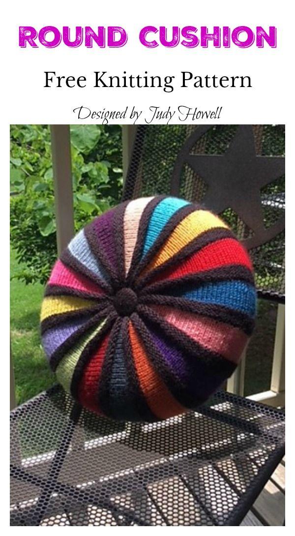 Round Cushion Free Knitting Pattern Knitting Knitting Patterns