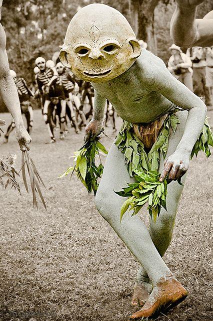 Asaro Mudmen in Eastern Highlands Province, Papua New Guinea.
