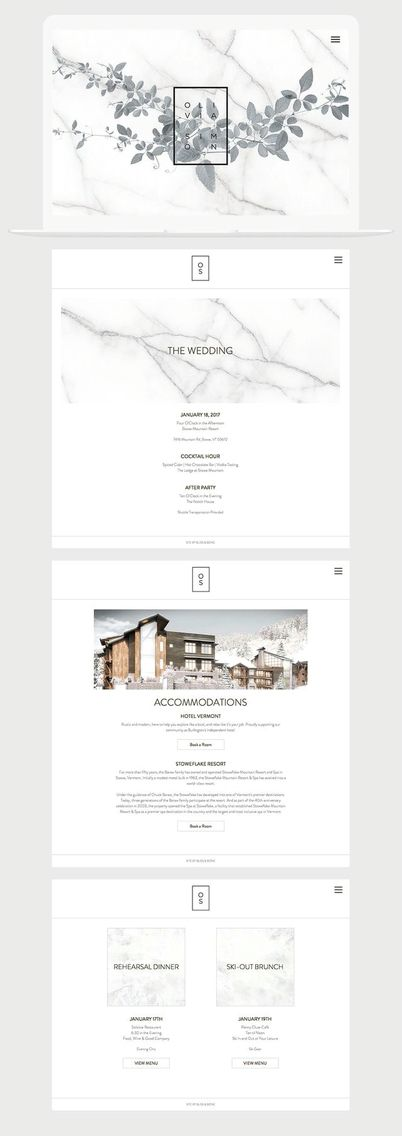Wordpress website clean minimal web design