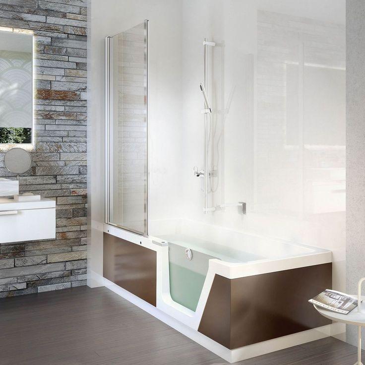 Baignoire douche à poser / rectangulaire / en acrylique STEP-IN PURE 01 DUSCHOLUX AG