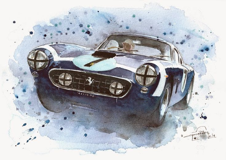 Nicolas Cancelier art automobile/Automotive art: Ferrari 250SWB