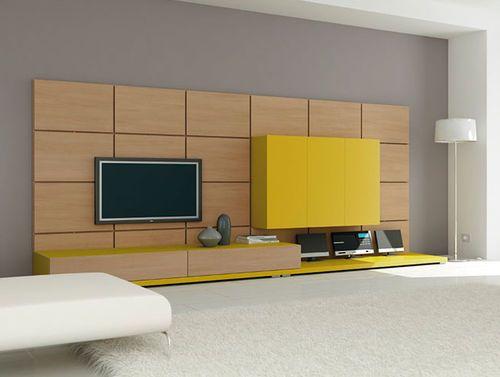 Moderne Wohnwand aus lackiertem Holz EL17 moretticompact