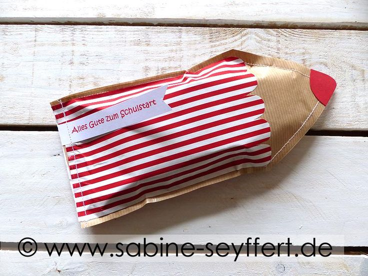 """DIY gifts ready for school launch, sewn """"colored pencil"""" with bas …"""