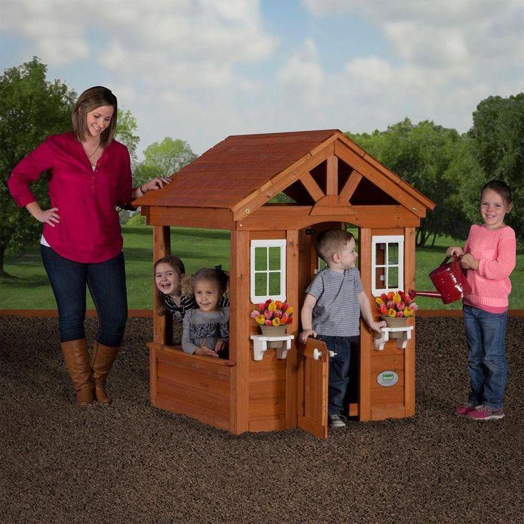Backyard Discovery Columbus All Cedar Playhouse # ...