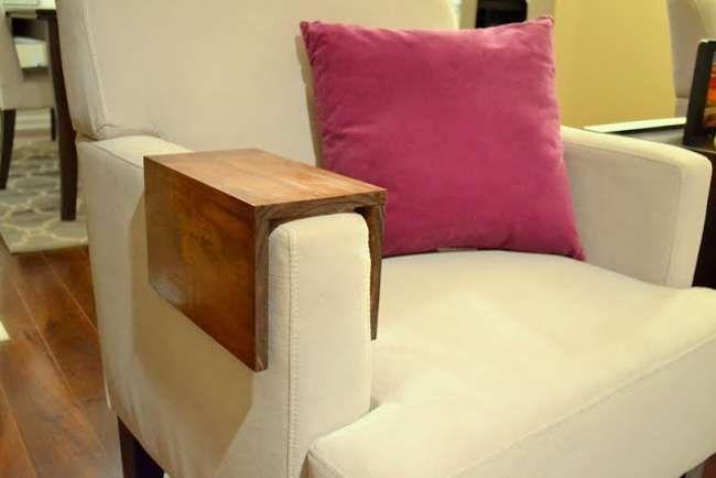 Bandeja De Controle E Porta Copo Para Sofa Como Fazer 25 Ideias Artesanato Em Madeira Diy Moveis Baratos Diy Moveis