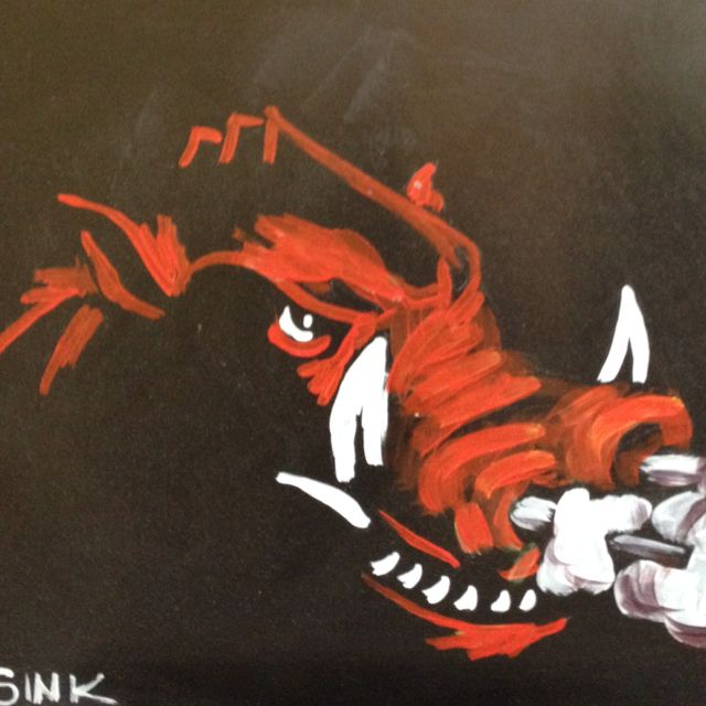 Razorback ~ Woo Pig Sooie  something for my brother to paint me! :)