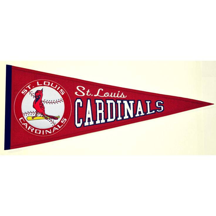 """This beautifully embroidered pennant is 32"""" x 13"""" and is retro-designed to capture the look and feel of a bygone era. A """"Must Have"""" for all St. Louis Cardinals super-fans."""