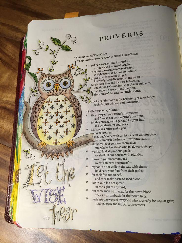 Proverbs 1:5.  Sherrie Bronniman - Art Journaling: In My Bible