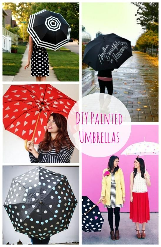 Make your own cute umbrella with craft paint - 5 super cute ideas and tutorials on how to paint your own! cute gift idea, too. #plaidcrafts #diy #crafts