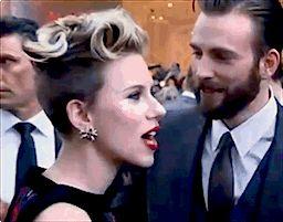 Chris Evans & Scarlett Johansson   Oh, Chris