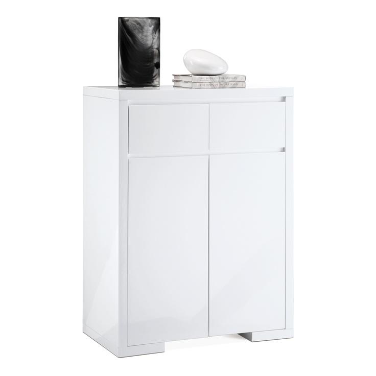 Bahut bas 2 portes 2 tiroirs London Blanc Prix La Maison de Valerie € 299.00
