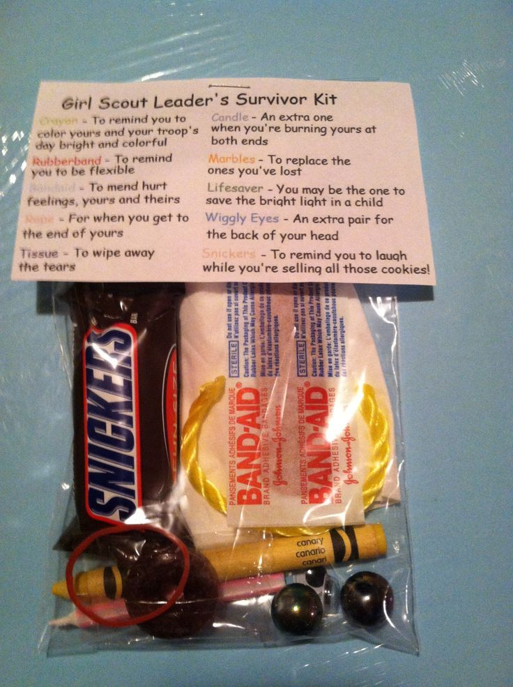 scoutmaster survival kit | Girl Scout leader survival kit | On my Honor