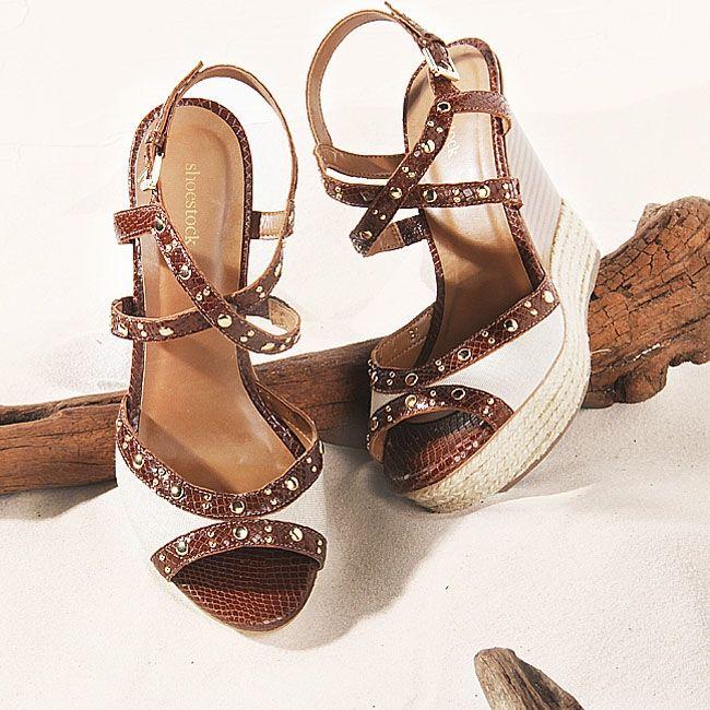 Detalhes... #shoestock #verao2015 #desejos #plataforma #espadrille #trend - Ref 15.01.0538