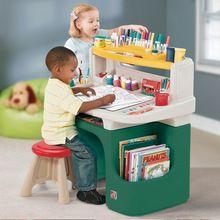 Step2 сша импорт подлинной детские игры , чтобы научиться рисовать столы и стулья сочетание пластиковые стол стол(China (Mainland))