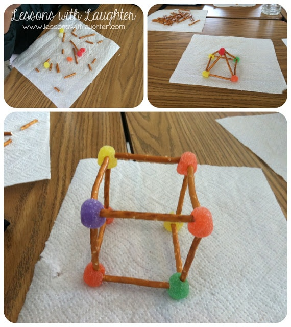 Geometric solids! They are fun to make and a nice treat to snack on when they are finished!