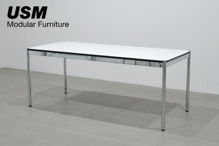 USM Haller|ハラーテーブル W1750(ラミネート・パールグレイ)