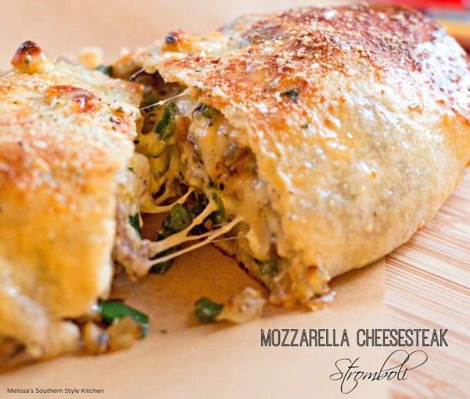 This scrumptious gooey family-style mozzarella cheesesteak stromboli makes the perfect budget friendly meal. Stretch leftover grilled streak into a meal to feed a family of 4 in about 30 minutes.