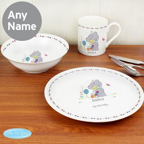 Personalised Tiny Tatty Teddy Cuddle Bug Breakfast Set | Vivabop | // & Best 34 Personalised Newborn baby gifts images on Pinterest | Baby ...