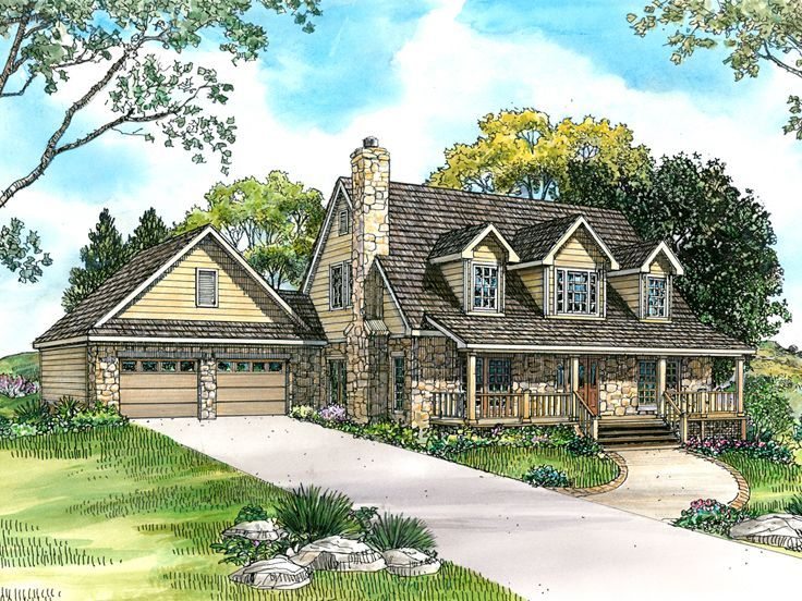 008h 0018 rustic country house plan 4 bedrooms 35 baths - Rustic Country House Plans