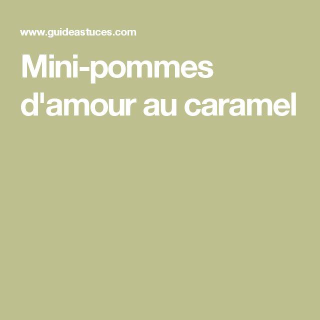 Mini-pommes d'amour au caramel