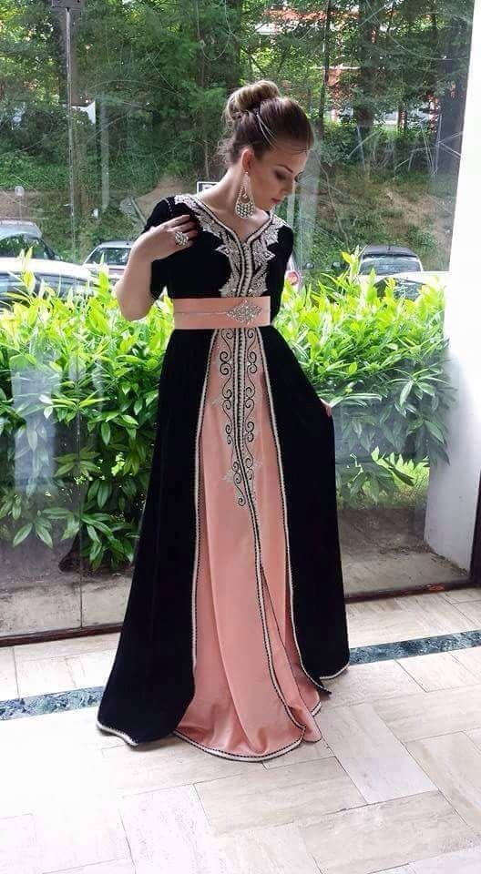Arabic wedding dress traditional called a kaftan or an abaya