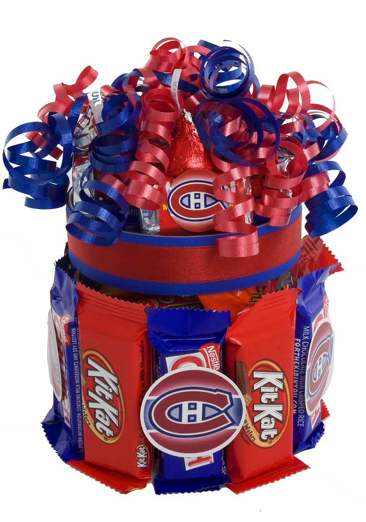 Montreal Canadiens Candy Cupcake - NHL Candy Cupcakes