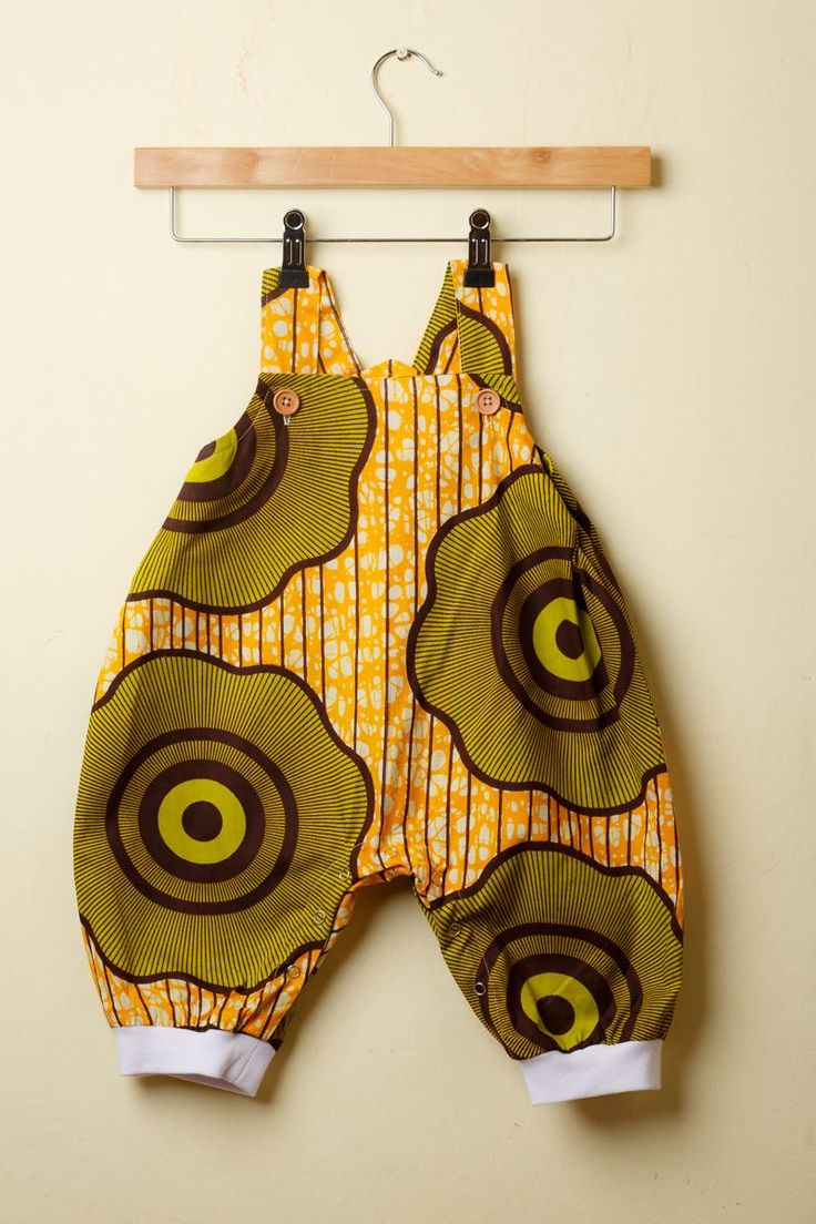 Cute Ankara print baby romper by Amédée. www.amedee.co.uk