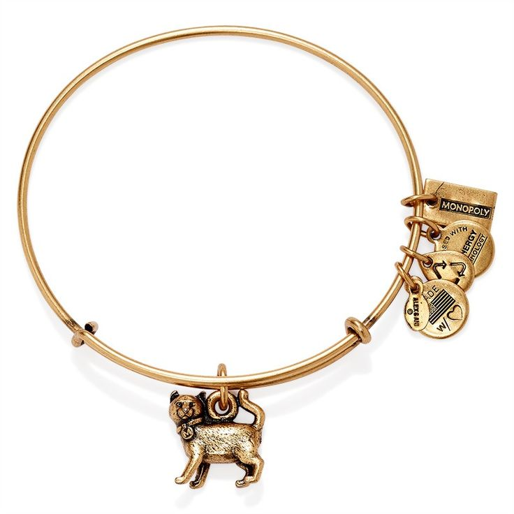 Have: If I ever claimed a spirit animal it would be the CAT!  Alex and Ani Monopoly Cat Charm bangle Intuitive*Independent*Curious: he cat is a bold, self-sufficient creature that moves forward in the direction of its choosing. Traditionally adventurous and intuitive, the cat likes to prowl on its own, unafraid of danger, as it boasts nine lives. Embrace the confident energy of the MONOPOLY Cat Charm in honor of this intelligent animal and charming pet.