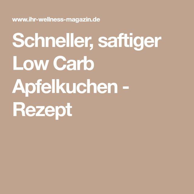 Schneller, saftiger Low Carb Apfelkuchen - Rezept
