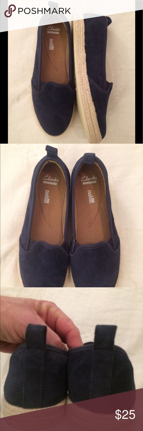 Clark shoes EUC. Navy suede. Super cute and comfy. Clarks Shoes