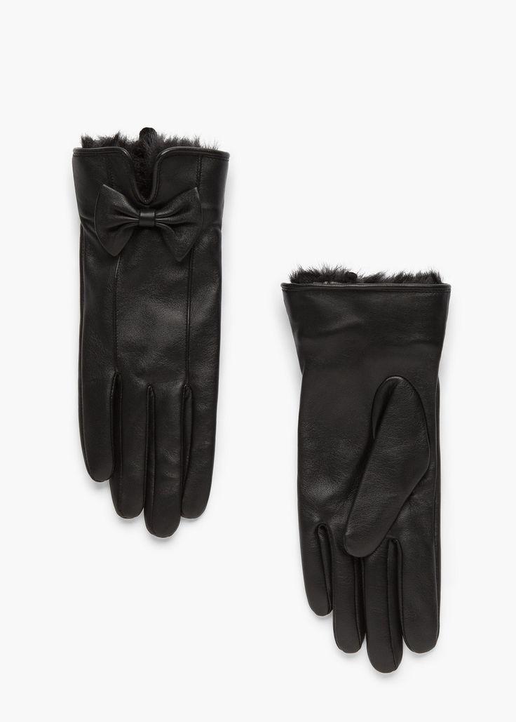 Gants cuir nœud -  Femme | MANGO